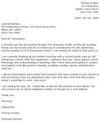 Example Teacher Cover Letters Elementary Teacher Cover Letter Examples Cover Letter Now