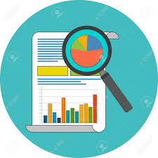Data Analysis Concept Flat Design Icon In Turquoise Circle