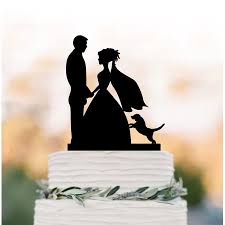 Renewfox Silhouette Cake Topperwedding Cake Topper With Dogfunny