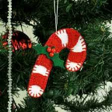 Candy Cane Decorations For Christmas Trees Make Felt Christmas Tree Ornaments 59