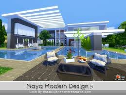 Small Picture Maya Modern Design 5 house by autaki at TSR Sims 4 Updates