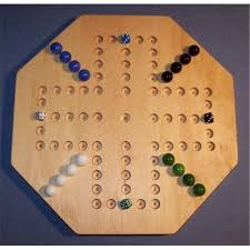 Beautiful Wooden Marble Aggravation Game Board THE PUZZLEMAN TOYS W100 Wooden Marble Game Board Aggravation 66