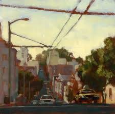 clay street composition by brandon smiththe painting depicts clay street between larkin polk in san francisco
