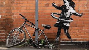 Banksy shares photo of Nottingham bike tyre hula-hoop street art | Ents &  Arts News