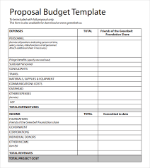 Cost Proposal Templates Budget Proposal Template sadamatsuhp 32