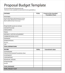 Cost Proposal Templates Budget Proposal Template sadamatsuhp 32