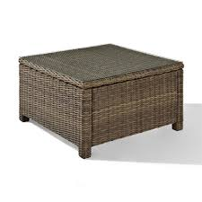 crosley furniture co7207 wb bradenton outdoor wicker outdoor wicker coffee table trunk