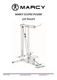 eclipse elliptical 1000 manual