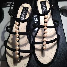 chanel sandals. chanel shoes - 【sold】chanel pearl sandals 38c chanel