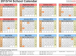 Calendar 2013 Template School Calendars 2013 2014 Free Printable Word Templates