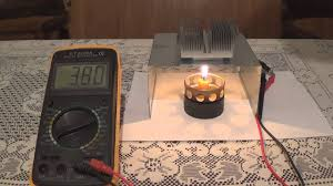 homemade electric generator. DIY Peltier Candle Power Electric Generator Homemade H