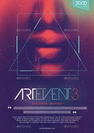 poster psd 20 modern psd geometric flyer design templates print idesignow