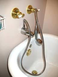 shower heads shower head for tub spout that connects to attachment