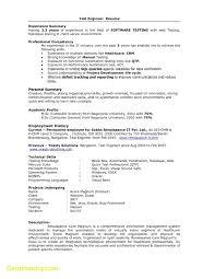 Luxury Resume Template Qa Tester Qa Automation Engineer Resume