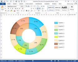 Donut Chart Templates For Word