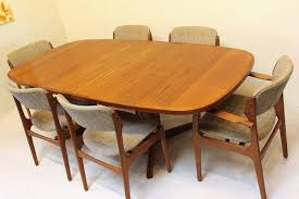 rectangle dining table set rustic mid century skovby teak dining table and six od mobler chairs mid
