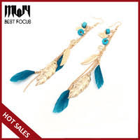 Discount Long <b>Red Feather</b> Earrings