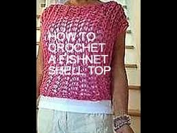 Quick And Easy Crochet Patterns Custom Crochet A FISHNET SHELL TOP Sweater Pattern Quick And Easy Crochet