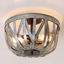 kids ceiling lighting. Galvanized Straps Basket Ceiling Light Kids Lighting