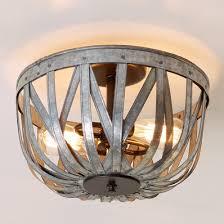 nursery ceiling lighting. Galvanized Straps Basket Ceiling Light Nursery Lighting L