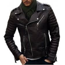 hugme fashion genuine leather jacket for men black leather jk11