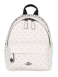 coach ny studded leather backpack ivory women bags,coach sale promo  code,Wholesale online