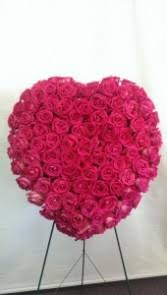 athas 36 sympathy heart with pink roses