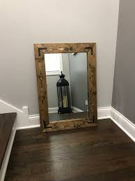 large mirrors for bathroom. Rustic Farmhouse Mirror, Country Wood Frame Bathroom Wall Large Mirrors For L