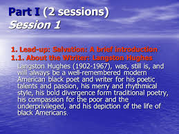 salvation by langston hughes summary order custom essay many youngsters however continued to sit unmoved i was saved from sin when salvation langston hughes essay summary i was going