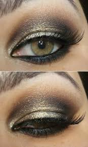 green eye with makeup