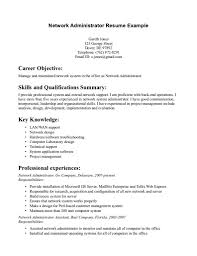Resume Format For Experienced System Administrator Resume For
