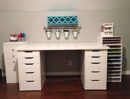 home office desk with storage. Ez View Craft Desk Doors And Open Center Storage With Shelf Hutch Black Metal Rustic Dawerhandle Home Office