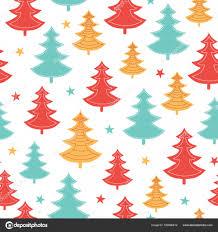 Vector Groen Geel Rood Verspreid Kerst Bomen Winter Vakantie