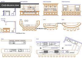 bar design free cad block