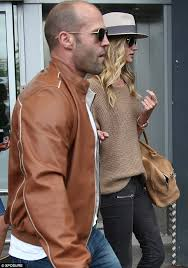 fashion staple jason loves a brown leather jacket and he wore this conker coloured