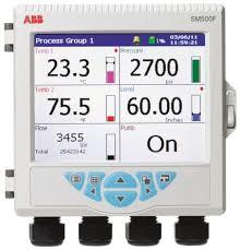 Abb Sm503fc B2e0020e Std 3 Channel Graphic Recorder Measures Current Resistance Temperature Voltage