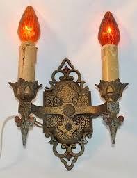 art deco wall sconces. Antique JC Virden 1930s Art Deco Nouveau Wall Sconce Gothic Light Fixture Sconces