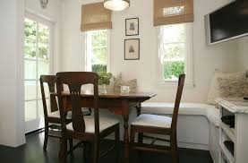 banquette dining room furniture. small dining table for three using built in banquette seating and white fabric seater also handmade window shade room furniture d