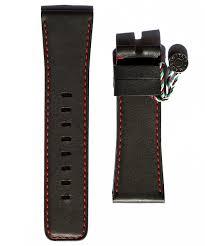 sevenfriday style black premium calf leather watch strap 28mm