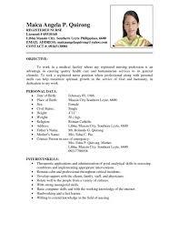 sample resume for nurses. Good Resume Format For Nurses Cipanewsletter