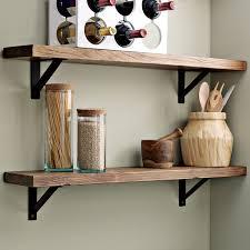 salvaged wood wall shelves