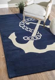 anchor chain nautical rug