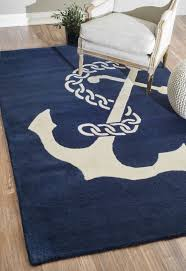 anchor chain nautical rug