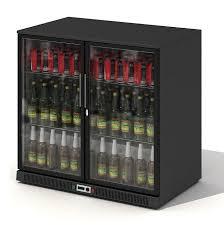 black glass door beer fridge 3d model obj 1