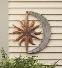 celestial sun moon garden wall art on sun moon garden wall art with sun moon celestial wall art metal hanging decor outdoor indoor