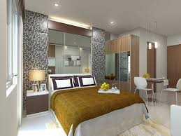 Mirror Ceiling Bedroom Wonderful Bedroom Studio Apartment Design With White Wall Paint