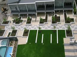 apartment landscape design. Fine Design Apartment Landscape Design New Mercial Architecture Modern Geometric Style  Of With Landscaping On