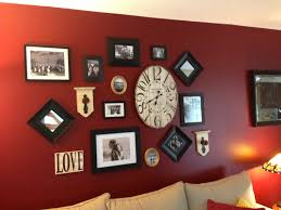 Red Wall Living Room Decorating Living Room Wall Decor Wall Collage Red Wall Living Family