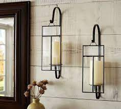 paned glass wall candle sconce candle
