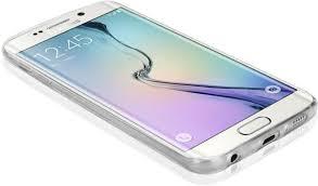 samsung galaxy s6 price. premium slim profile samsung galaxy s6 edge transparent tpu soft back cover case by rubik - white price